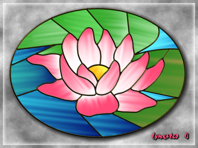 Stained Glass Waterlily